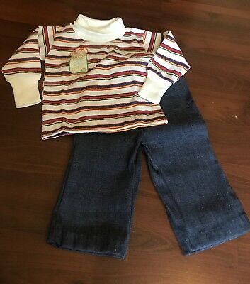 New Vintage Boys 1970's Healthtex 2 Piece Outfit 12 months