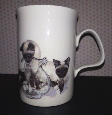Collectible Siamese Cat Mug Roy Kirkham Cat Lovers Series K M Hassall - Look!