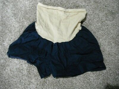 Pre-owned Motherhood Maternity Navy XL shorts with high belly band