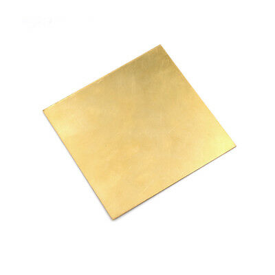 Brass Metal Thin Sheet Foil Plate Thick 0.5mm/0.8mm/1mm/2mm 100X100mm DIY PartTO