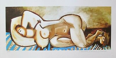 """Pablo Picasso SLEEPING NUDE Estate Signed Limited Edition Art Giclee 26"""" x 20"""""""