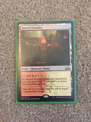 Magic the Gathering MTG Sacred Foundry x1 Rare Card NM/M Guilds of Ravnica
