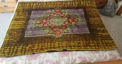 Vintage G & S CO  Horse Hair/ wool Lap Robe Buggy Carriage Sleigh Blanket