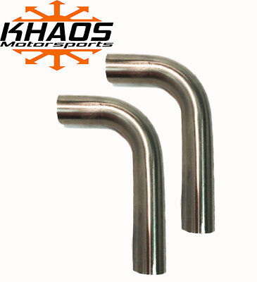 "1.625"" 1-5/8"" 90 DEGREE 304 STAINLESS 16ga MANDREL BEND EXHAUST TUBING 2 Pack"