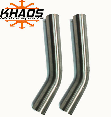 "1.625"" 1 5/8"" 45 DEGREE 304 STAINLESS 16ga MANDREL BEND EXHAUST TUBING 2 PACK"
