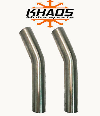 "1.625"" 1 5/8"" 22.5 DEGREE 304 STAINLESS 16ga MANDREL BEND EXHAUST TUBING 2 PACK"