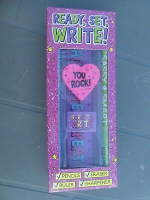 Ready to write set - pencil rubber ruler and sharpner