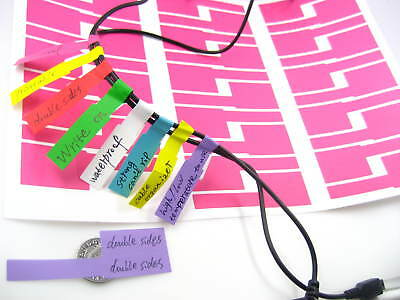 waterproof double sided pink printable write on cable sticker cable marker tie