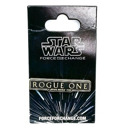 Disney Parks Star Wars Force for Change Rogue One Trading Pin - Limited Edition