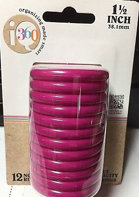 "iQ 360 Notebook Rings Pink 1 1/2"" - 200 Sheets - Expansion for Planner Calendar"