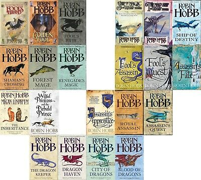 Robin Hobb - 6 Series + 2 Stand Alone Collection (21 Books Set)