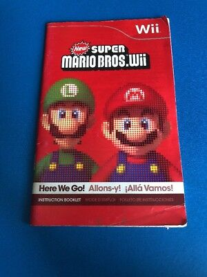 New Super Mario Bros Wii Nintendo Wii Original MANUAL ONLY! Instruction Booklet!
