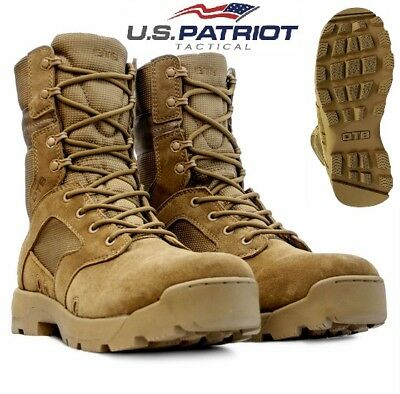 Mens Desert Leather USA Army Combat Military Hiking Walking Tactical Hi Boots Sz