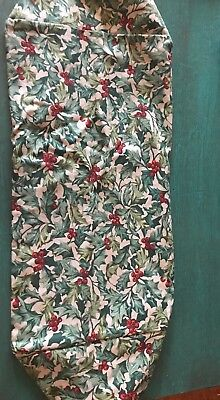 Longaberger AMERICAN HOLLY Large Serving Tray Fabric Liner~Christmas/Holiday