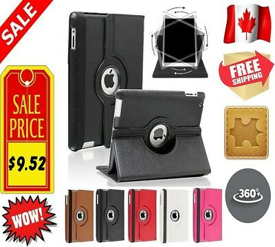 Leather PU Stand Rotating 360 Degree Case Cover For Apple iPad Mini 1 | 2 | 3