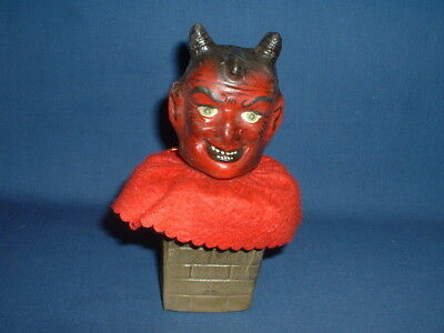 German Halloween Devil in Chimney Candy Container