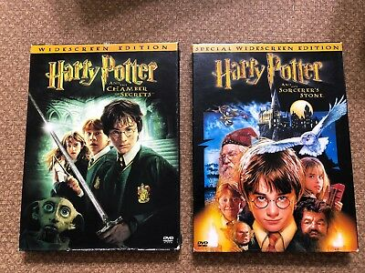 Harry Potter DVD Lot: The Sorcerer's Stone And The Chamber of Secrets