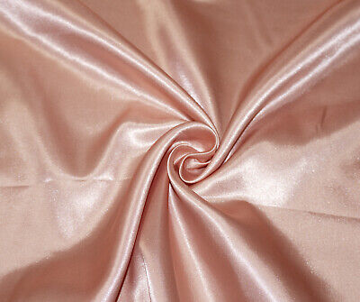 Dusty Pink Luxury Silky Satin Dress Craft Fabric Wedding Material 150cm Wide