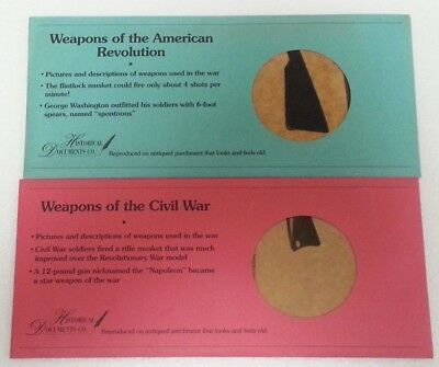 2 Historical Documents ~ Weapons Of The Revolutionary & Civil War ~ Crisp Unc!