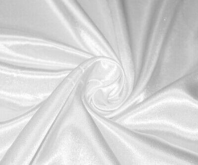 White Silky Satin Dress Craft Fabric Wedding Material 150cm Wide