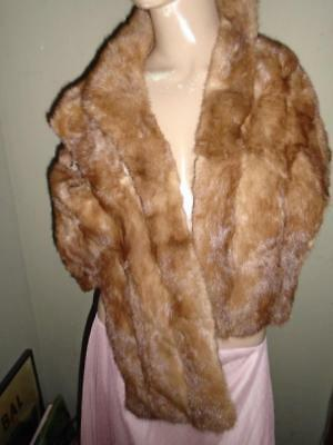 Vintage 1950's Pure Mink Stole Coat And Beaver Fur Jacket Lot All Need Tlc