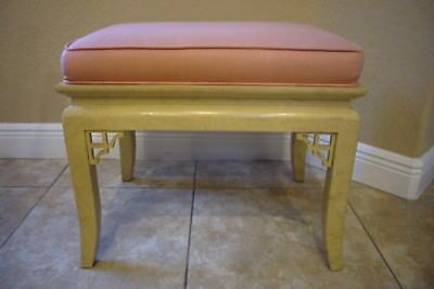 Mid Century Modern Chinese Chippendale Hollywood Regency Hekman Bench