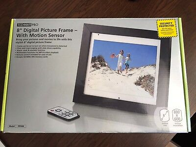 "Technika Pro 8"" Digital Picture Frame - With Motion Sensor - Brand New In Box"