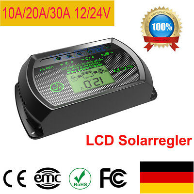 Digital LCD Solar Regler Laderegler Controller Regulator 12V-24V 10A//20A//30A KS