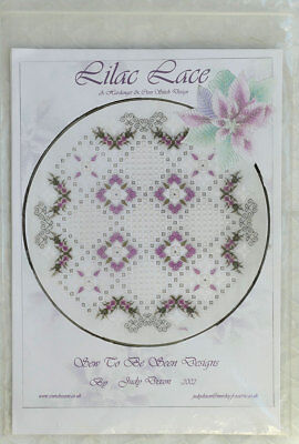 "Judy Dixon ""Lilac Lace"" Hardanger embroidery design chart pack"