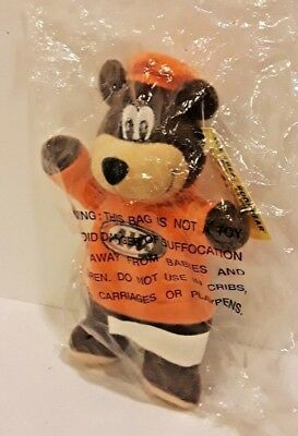 A&W Root Beer Bear 7 Inch New in the Plastic Plush Stuffed Toy 2001