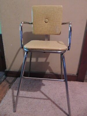 Vintage child's chair, 1940s? Chrome and vinyl