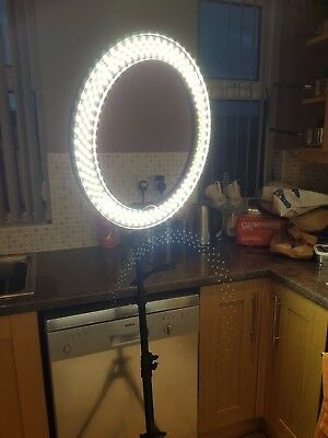 Neewer 18 Inches Ring Light With Stand Kit-Bi-color Dimmable LED SMD Ring New UK