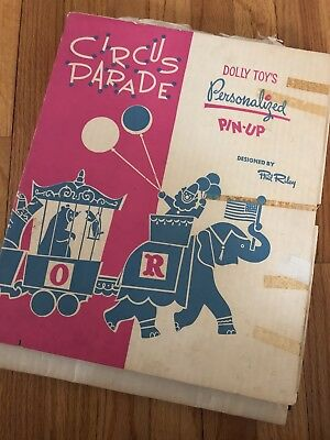 Authentic Vintage Circus parade Dolly Toys Wall Decor By Phil Riley