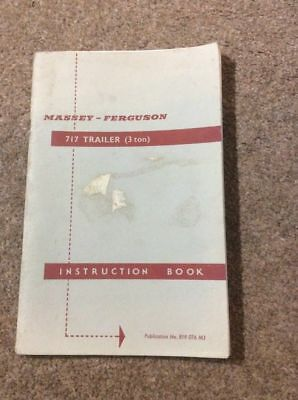 FERGUSON TRAILER INSTRUCTION BOOK  .. 58 Pages of Great info incl Parts Section