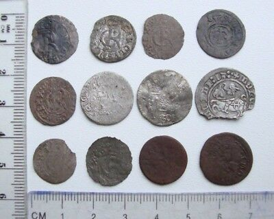 Lot of 12 Different Medieval Post Medieval Silver Copper Coins Low Grade S10