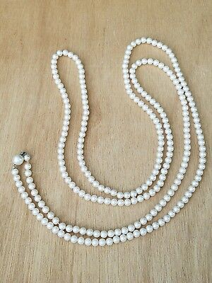 """Stunning Vintage Estate Find Faux Pearl 61"""" Long Flapper Necklace Roarin 20's"""
