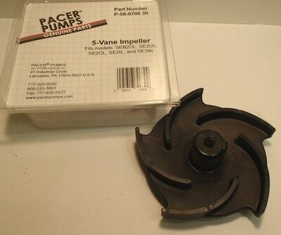 Pacer WATER Pump Impeller 5 Vane 3-5.5 Hp  P-58-0706-30 SE2CL SE2IL SE3NL SE2UL