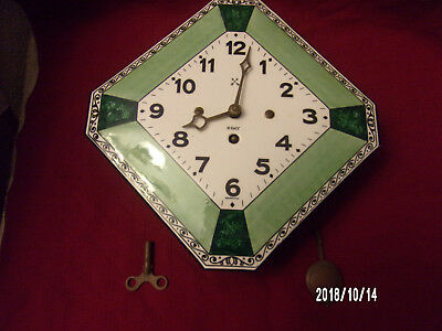 Vintage 8 day wall clock made in germany