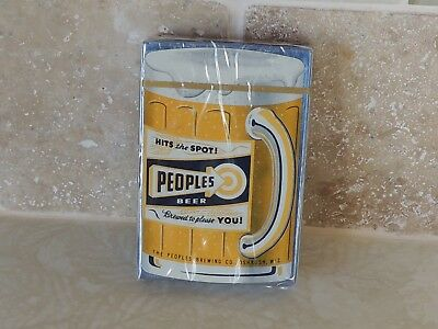Peoples Beer-Oshkosh Wisc. Sealed Playing cards