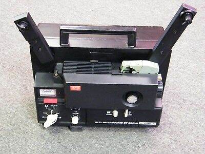 ELMO ST600 M 2 Track ~ Super 8 Sound Movie Film Projector Tested 100%