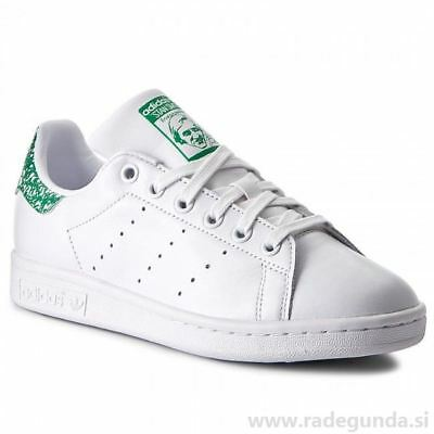ADIDAS STAN SMITH Womens White Green B24105 Tennis Low Sneakers New ... 5fb641303
