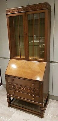 Bureau with bookcase/display cabinet