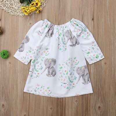 S-271 Girl's White Elephant Dress  (Ready to Ship from Ohio)(Free Shipping)