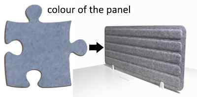 Acoustic Privacy Desk Screen Divider Panel 560mmH x 1400mmW COLOUR-LIGHT BLUE #8