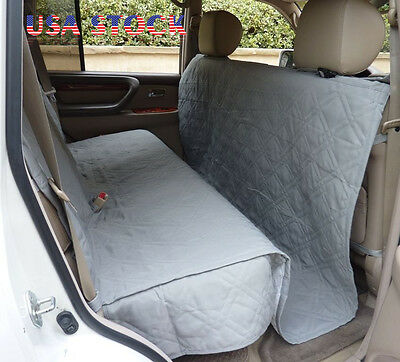Deluxe Quilted Padded SUV Car Seat Cover For Dog Pet Extra Large Coverage Grey
