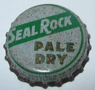 Seal Rock Pale Dry Ginger Ale Soda Bottle Cap; Saco, Maine; Used Cork