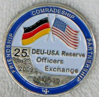 American German Reserve Officers Exchange DEU USA Challenge Coin LE 124 / 330