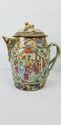 Antique 19th Century Coffee Tea Pot Chinese Porcelain