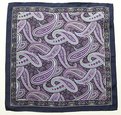 Lot of 4 BROOKS BROTHERS Pocket Square Handkerchief 100/% Silk Navy NWOT $180 New