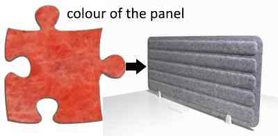 Acoustic Privacy Desk Screen Divider Panel 560mmH x 1400mmW COLOUR-LIGHT RED #6